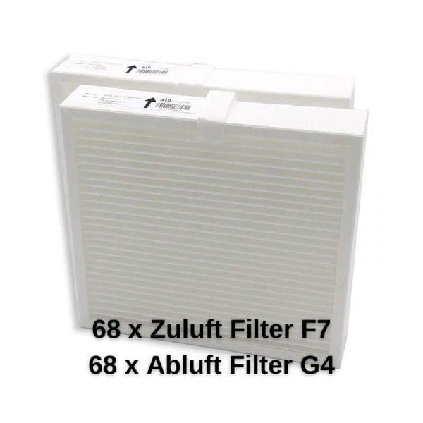 KLL170XVFSET68 68Zuluft Filter F7 68Abluft Filter G4
